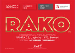 Certifikát RAKO