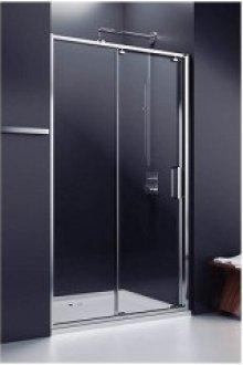 Ultra - posuvné dveře 2-dílné120,140cm do niky, sklo čiré, stříbrná lesklá, s madlem na ručník