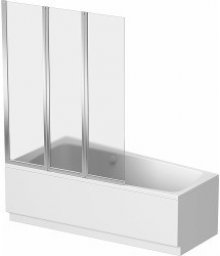 Split- 3-dílná vanová zástěna  120x150, stříbrná lesklá