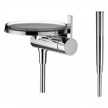 Kartell by Laufen - sprchová páková nástěnná baterie (Disk), bez podomítkového tělesa