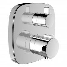 Cityplus Twintherm - vanová/sprchová podomítková termostatická baterie, zavzdušňovací ventil