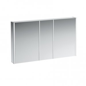 Frame 25 - hliníková zrcadlová skříňka 75x120, LED, bílá
