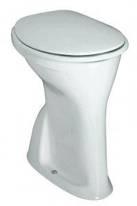 Albonova - klozet stojící, výška 50 cm, odpad svislý, ploché splachování, bez sedátka