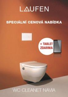 AKCE: Cleanet Navia - závěsný klozet+podomítkový modul+bílé tlačítko+tablet