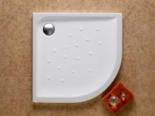 Malta - keramická sprchová vanička čtvrtkruhová 90x90 cm