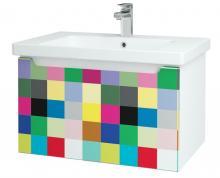 Color SZZ 80 - skříňka s umyvadlem 80 cm, závěsná, CS III