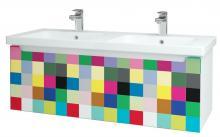 Color SZZ 125 - skříňka s umyvadlem 125 cm, závěsná, CS III