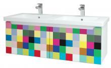 Color SZZ2 125 - skříňka s umyvadlem 125 cm, 2 zásuvky, závěsná, CS III