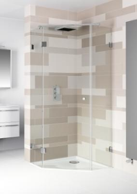 Scandic sprchové kouty pětiúhelníkové