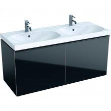 Acanto - spodní skříňka 119x47,6 pod dvojumyvadlo, černá