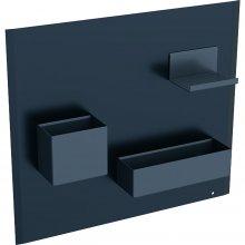 Acanto - magnetická tabule s úložnými přihrádkami, černá