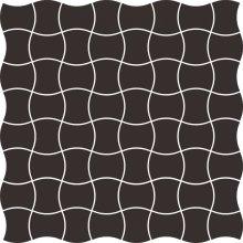 Modernizm nero mozaika prasowana - dlaždice mozaika 29,8x29,8 černá