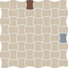Modernizm bianco mozaika prasowana mix A - dlaždice mozaika 29,8x29,8 bílá