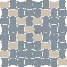 Modernizm blue mozaika prasowana mix - dlaždice mozaika 29,8x29,8 modrá
