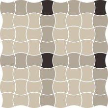 Modernizm grys mozaika prasowana mix A - dlaždice mozaika 29,8x29,8 šedá