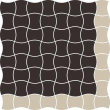 Modernizm nero mozaika prasowana mix A - dlaždice mozaika 29,8x29,8