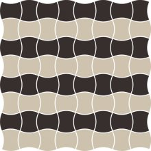 Modernizm nero mozaika prasowana mix B - dlaždice mozaika 29,8x29,8