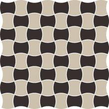 Modernizm nero mozaika prasowana mix C - dlaždice mozaika 29,8x29,8