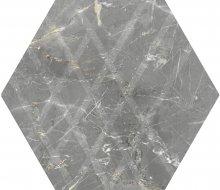 Marvelstone light grey heksagon gres szkl. mat. - dlaždice šestihran 17,1x19,8 šedá