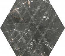 Marvelstone grey heksagon gres szkl. mat. - dlaždice šestihran 17,1x19,8 šedá