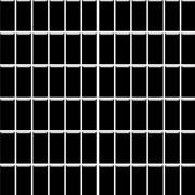 Albir nero - obkládačka mozaika 30x30 (2,3x4,8) černá mat