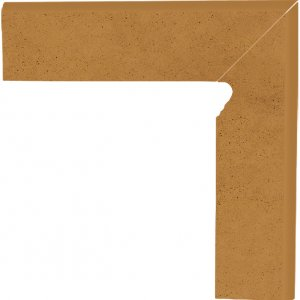 Aquarius brown cokol schodowy prawy - dlaždice sokl schodový pravý 30x8,1 hnědá