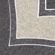 Arkesia grafit narožnik B - dlažice bordura roh 9,8x9,8