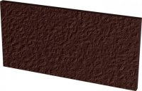 Natural brown plytka podstopnicowa duro - dlaždice podschodnice 30x14,8 hnědá strukturovaná