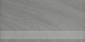 Arkesia grigio satyna stopnica - schodovka 29,8x59,8 šedá matná