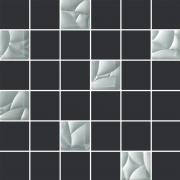 Esten bianco/grafit mozaika cieta - obkládačka mozaika 29,8x29,8