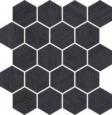 Taiga grafit wood mozaika - obkládačka mozaika 28x25,8 šedá