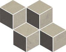 Rockstone antracite mozaika cieta mix - dlaždice mozaika 23,8x20,4 šedá