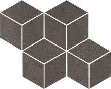Rockstone umbra mozaika cieta mix - dlaždice mozaika 23,8x20,4 hnědá