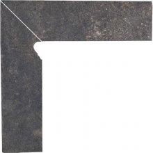 Viano antracite cokol schodowy lewy - dlaždice sokl schodový levý 30x8,1 šedá