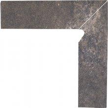 Viano antracite cokol schodowy prawy  - dlaždice sokl schodový pravý 30x8,1 šedá