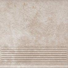 Viano beige stopnica ryflovana prosta - schodovka 30x30 béžová