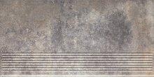 Viano grys stopnica ryflovana prosta - schodovka 30x60 šedá