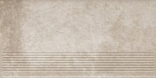 Viano beige stopnica ryflovana prosta - schodovka 30x60 béžová
