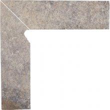 Viano grys cokol schodowy lewy - dlaždice sokl schodový levý 30x8,1 šedá