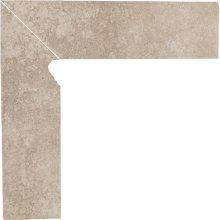 Viano beige cokol schodowy lewy - dlaždice sokl schodový levý 30x8,1 béžová