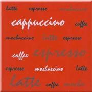 Aplauz red inserto espresso - obkládačka inzerto 10x10