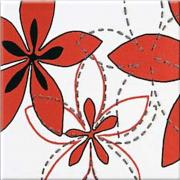 Aplauz red inserto flower 1 - obkládačka inzerto 10x10