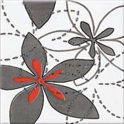 Aplauz grey inserto flower 1 - obkládačka inzerto 10x10