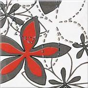 Aplauz grey inserto flower 2 - obkládačka inzerto 10x10