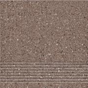 Hyperion H5 brown steptread - schodovka 29,7x29,7 hnědá matná