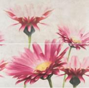 Creamy Touch Composition Flower - obkládačka inzerto set 58,3x59,3 krémová