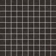 Equinox Black Mosaic Square - dlaždice mozaika 29x29 černá