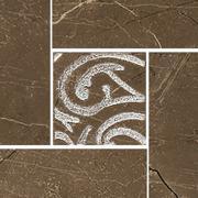 Arkos brown corner classic - dlaždice bordura roh 9,8x9,8 hnědá