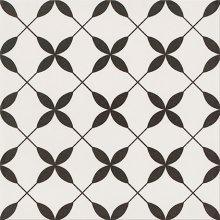 Parchwork Clover Black Pattern - dlaždice 29,8x29,8 bílá