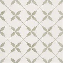 Parchwork Clover Grey  Pattern - dlaždice 29,8x29,8 bílá